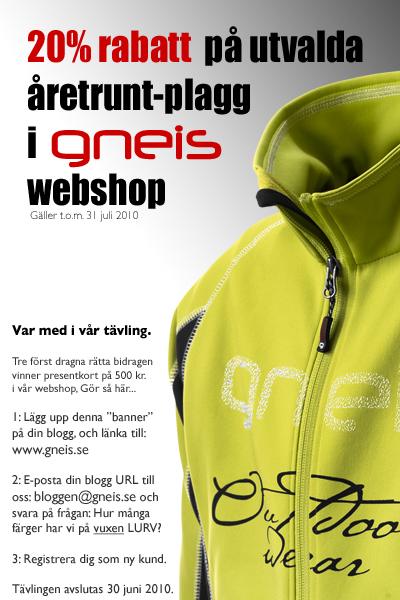 Bloggartävling hos Gneis